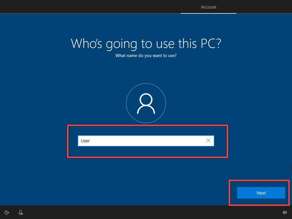 Windows user setup