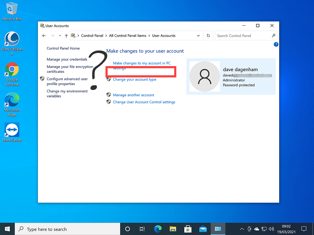 Change your name option missing