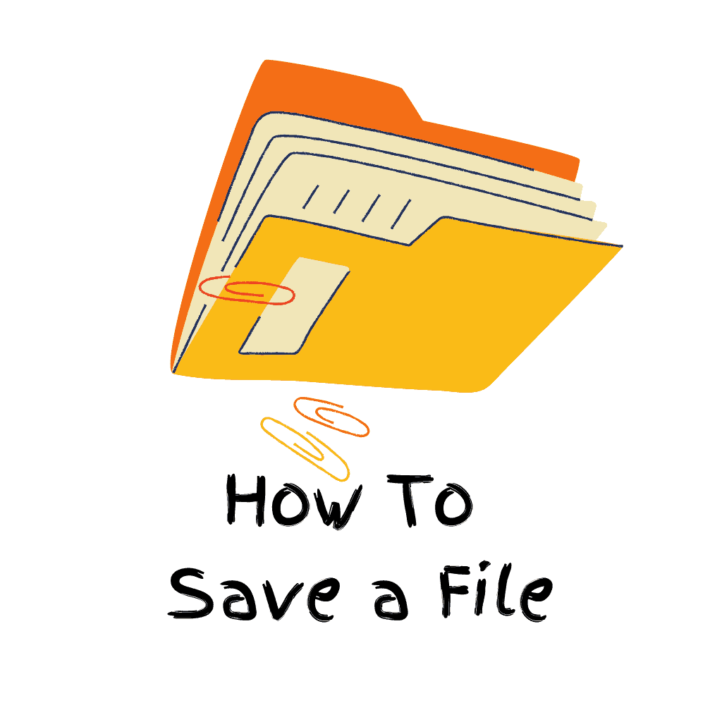 Folder with files saved into it