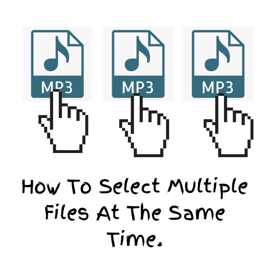 3 Files being selected.