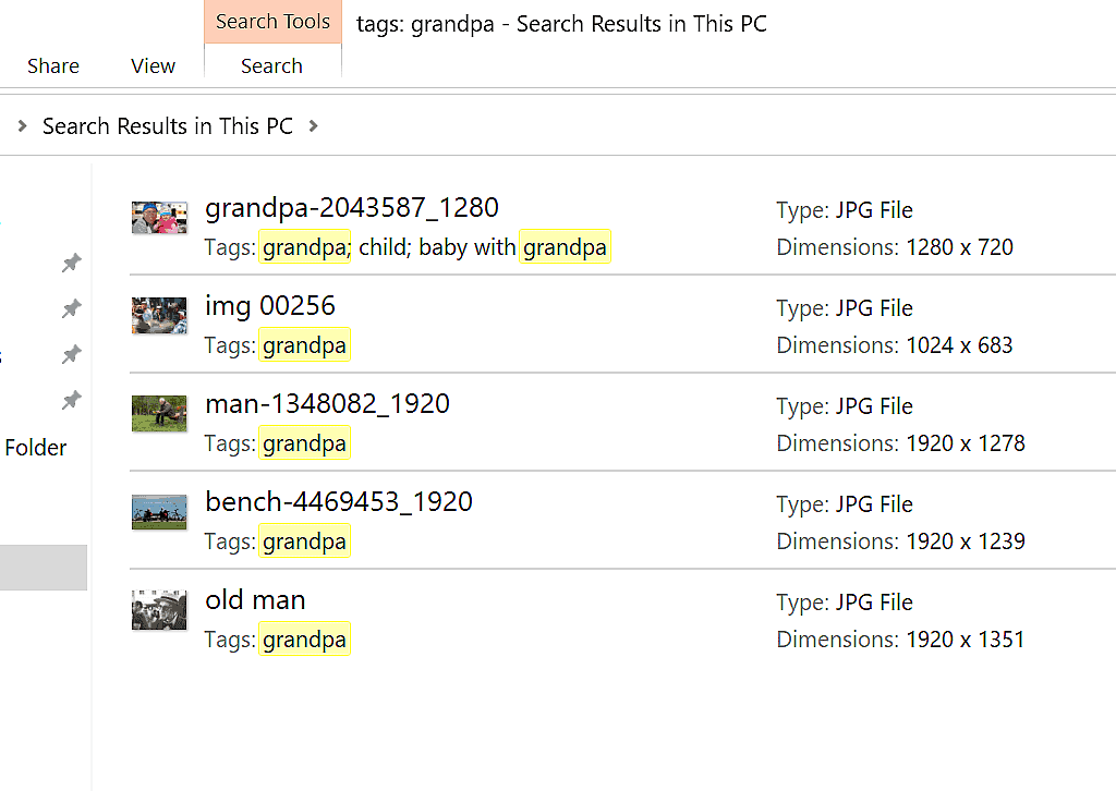 Search results with the tag (Grandpa) highlighted