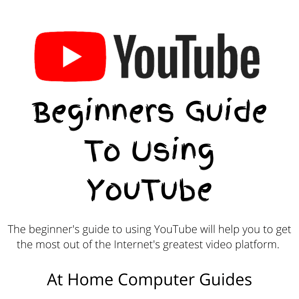 """Youtube logo. Text reads """" Beginners guide to using YouTube"""""""