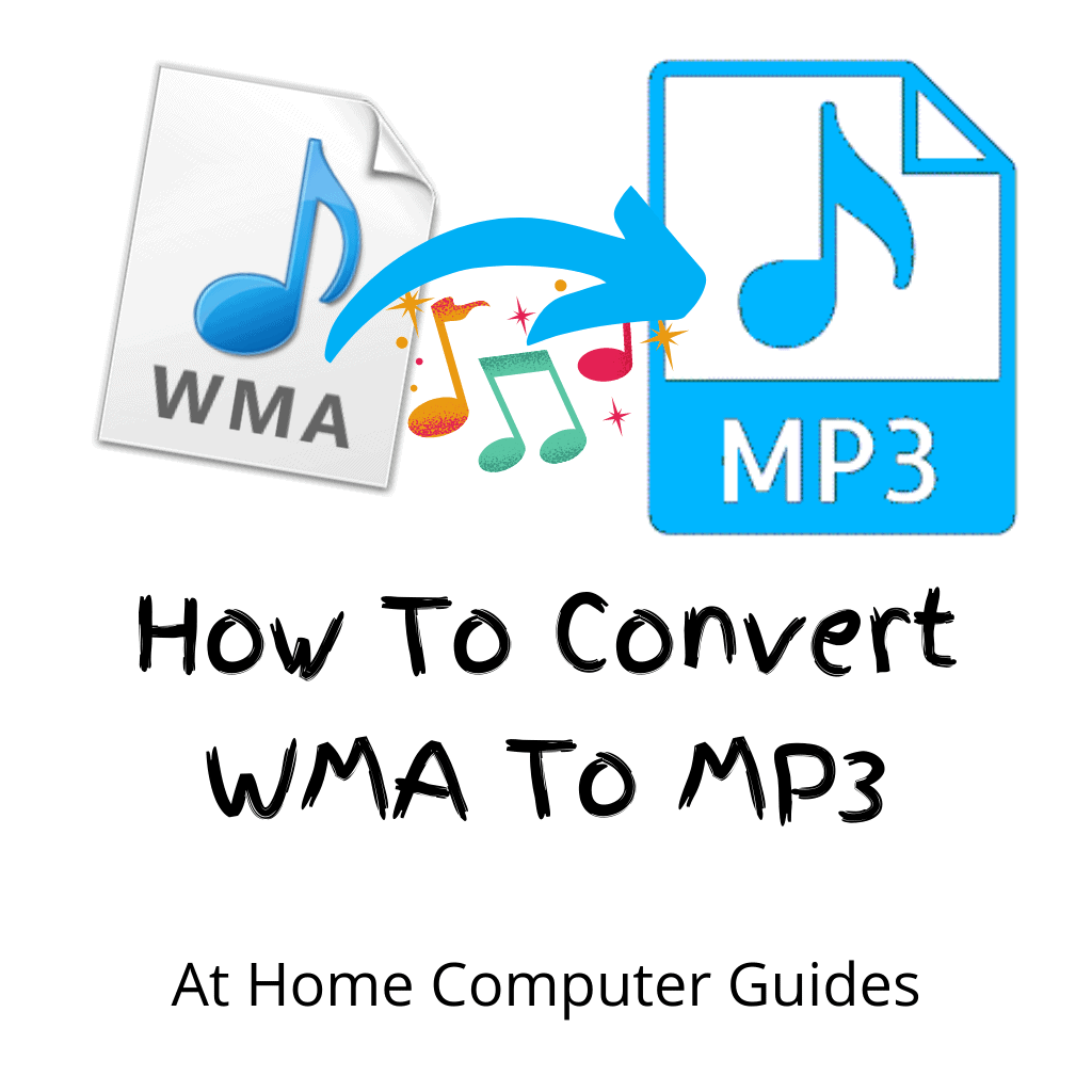 """WMA file converting to MP3 file. Text reads """"How to convert WMA to MP3"""""""