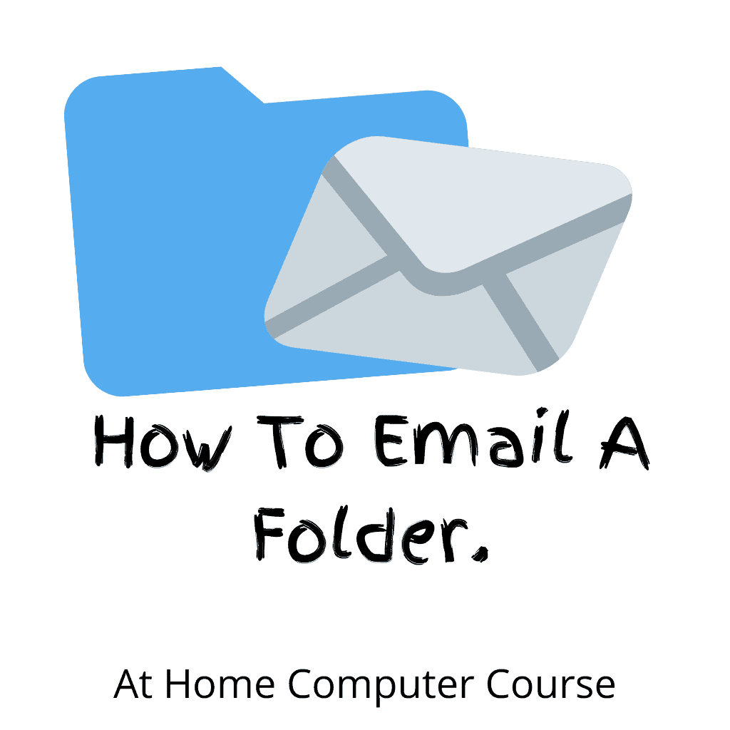 """Folder attached to email message. Text reads """"How to email a folder""""."""