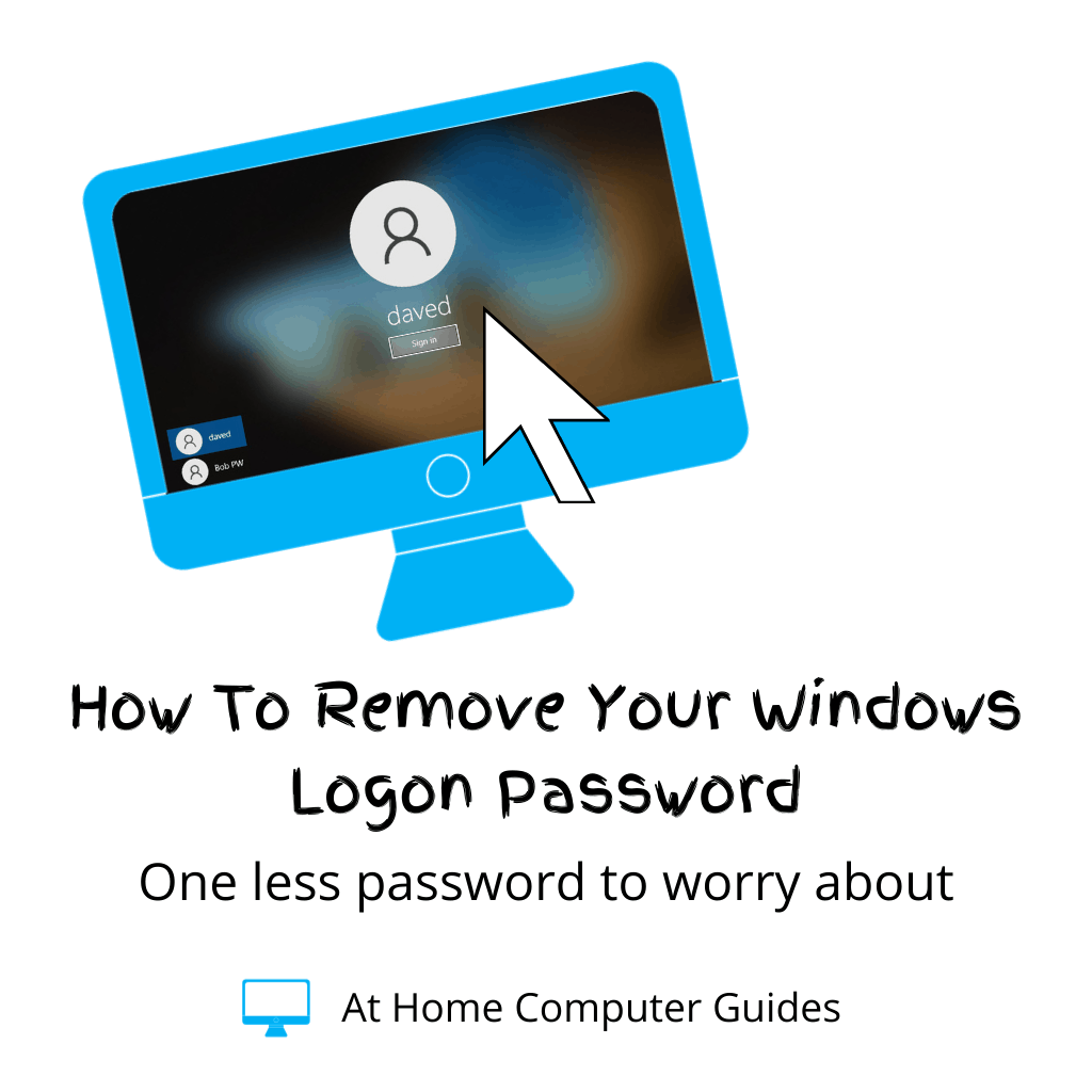"""Windows logon screen. Text reads """"How to remove your Windows logon password""""."""