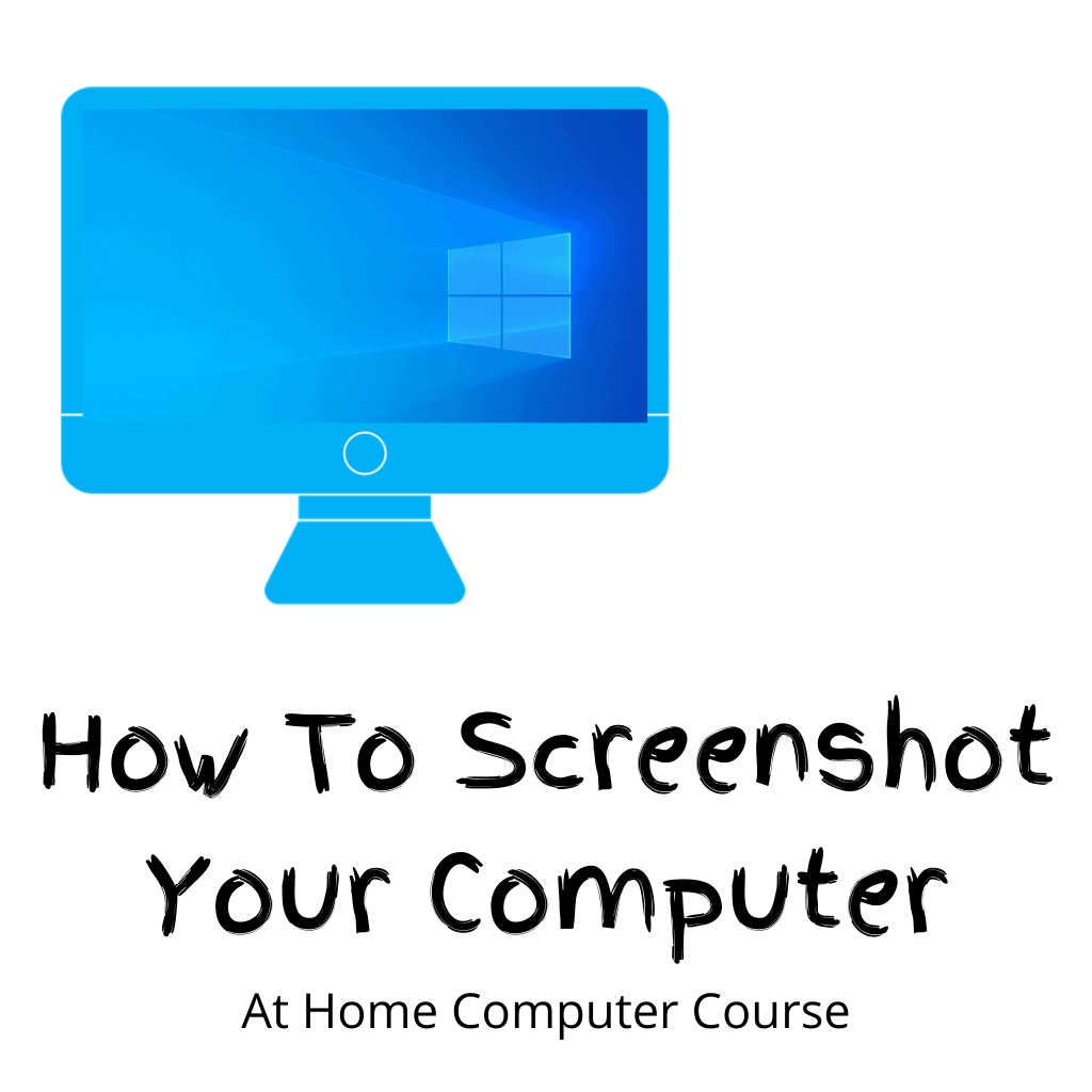 """Computer screen (monitor). Text Reads """" How to screenshot your computer"""""""